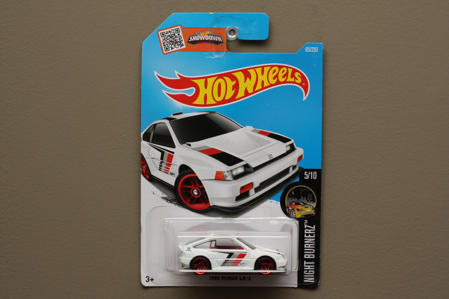 Hot Wheels 2016 Nightburnerz '85 Honda CR-X (white) (SEE CONDITION)