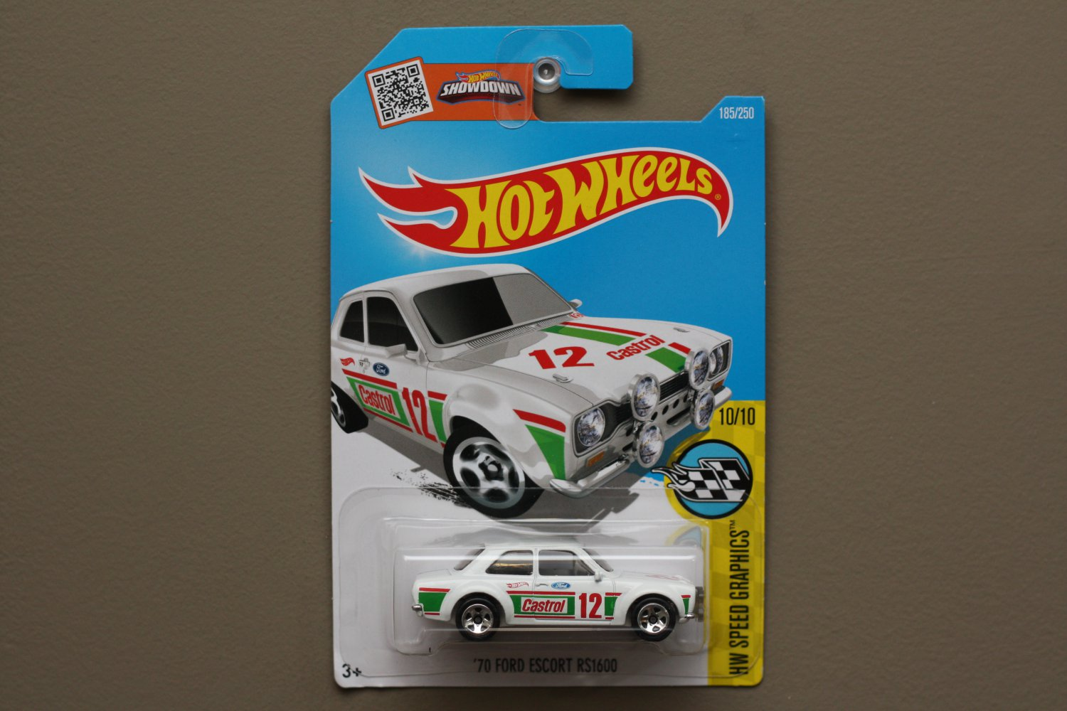Hot Wheels 2016 HW Speed Graphics '70 Ford Escort RS1600 (white)