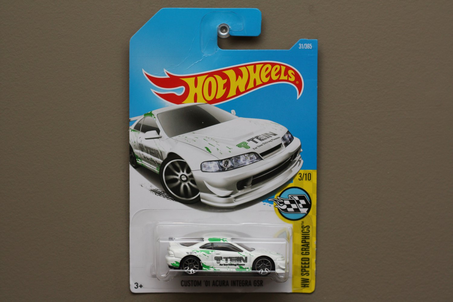Hot Wheels 2017 HW Speed Graphics Custom '01 Acura Integra GSR (white) (SEE CONDITION)