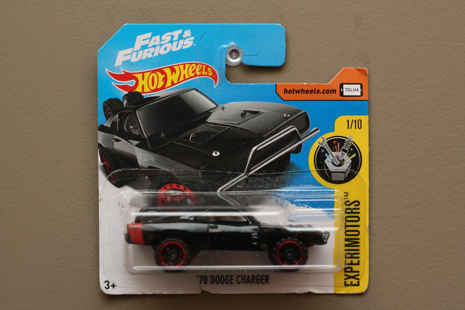 Hot Wheels 2017 Experimotors '70 Dodge Charger (black) (Fast & Furious) (SEE CONDITION)