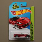 Hot Wheels 2014 HW Workshop '14 Corvette Stingray Convertible (red) (SEE CONDITION)