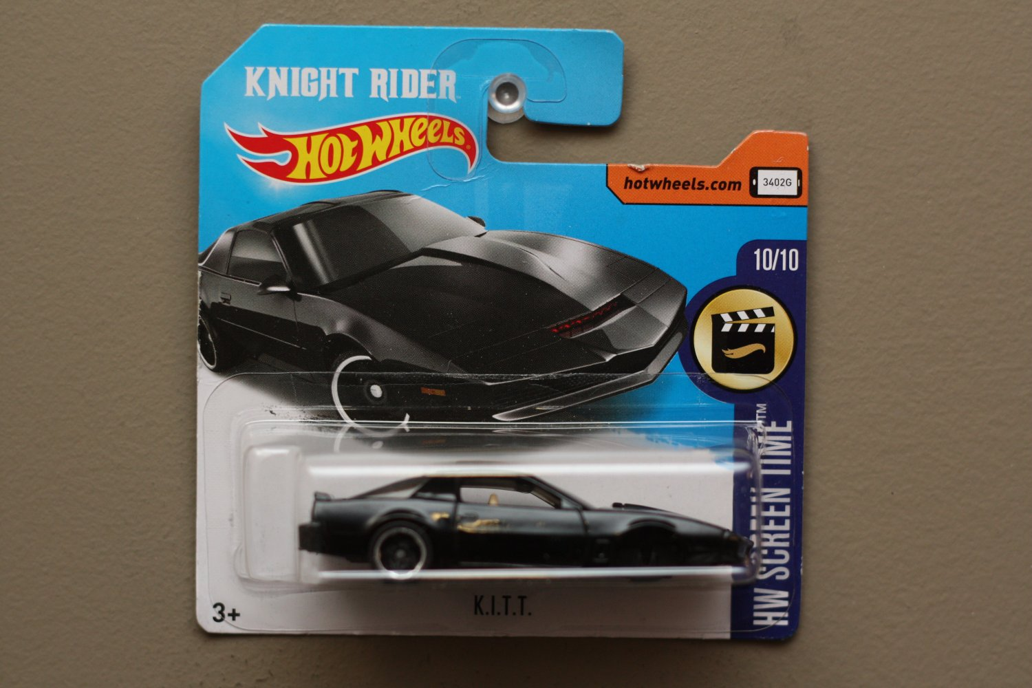 [MISSING PIECE ERROR] Hot Wheels 2017 HW Screen Time K.I.T.T. (Knight Rider) (SEE CONDITION)