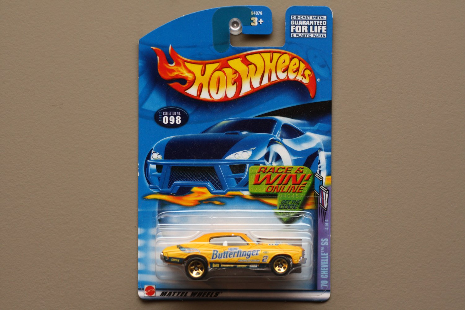 Hot Wheels 2002 Sweet Rides Series '70 Chevelle SS (yellow)