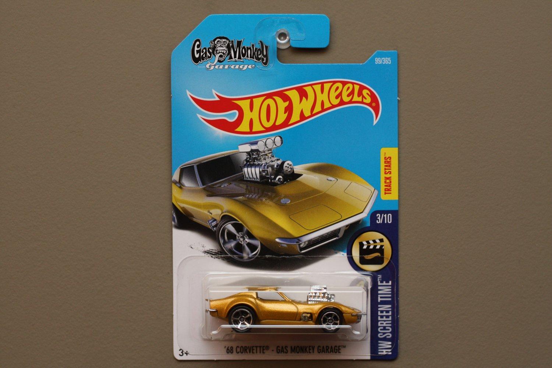 Hot Wheels 2017 Hw Screen Time 68 Corvette Gas Monkey