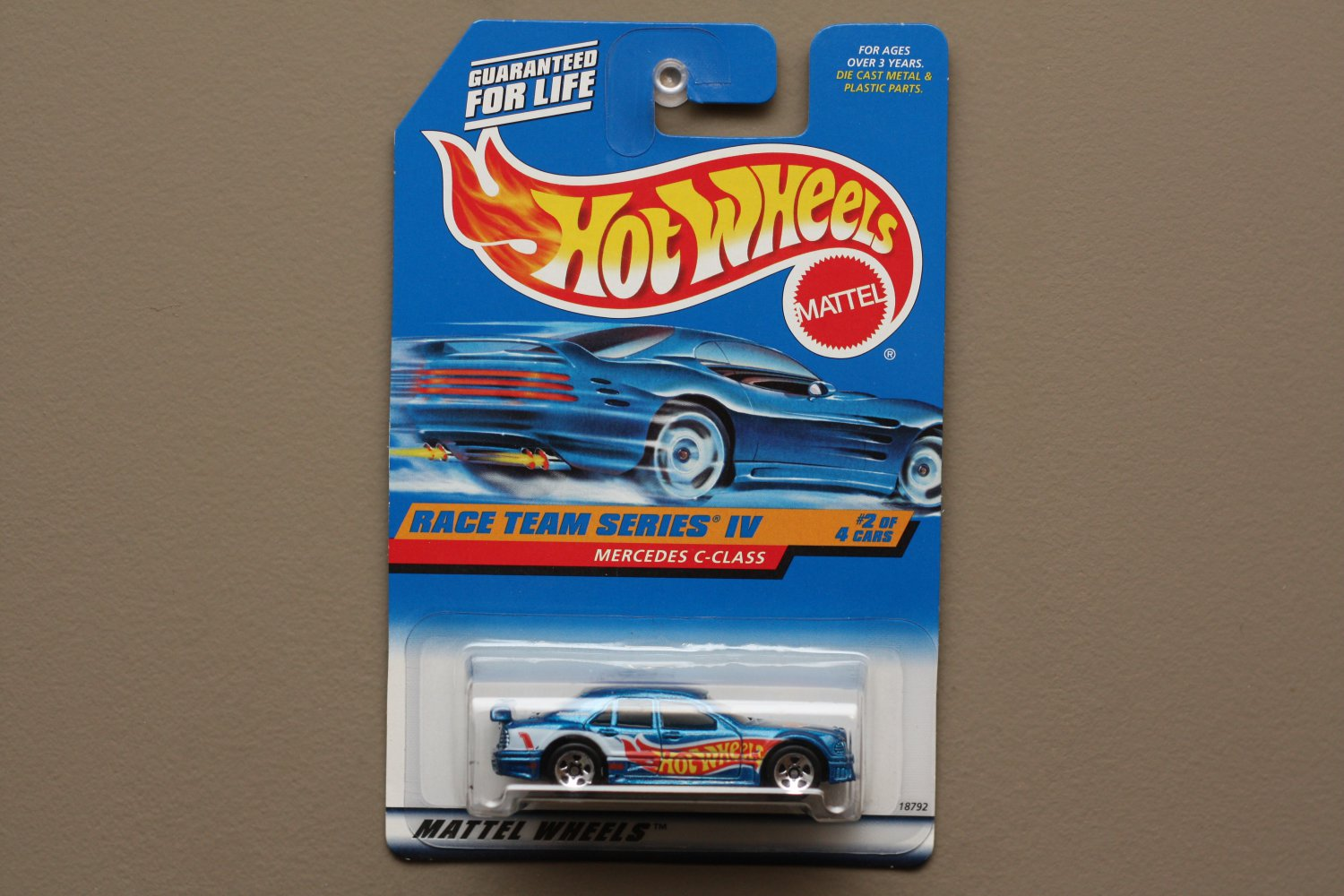 Hot Wheels 1998 Race Team Mercedes C-Class (blue)