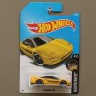 Hot Wheels 2017 Nightburnerz '90 Acura NSX (yellow) (SEE CONDITION)