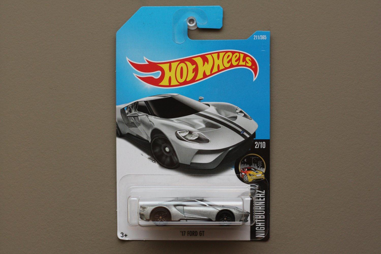 Hot Wheels 2017 Nightburnerz '17 Ford GT (silver)