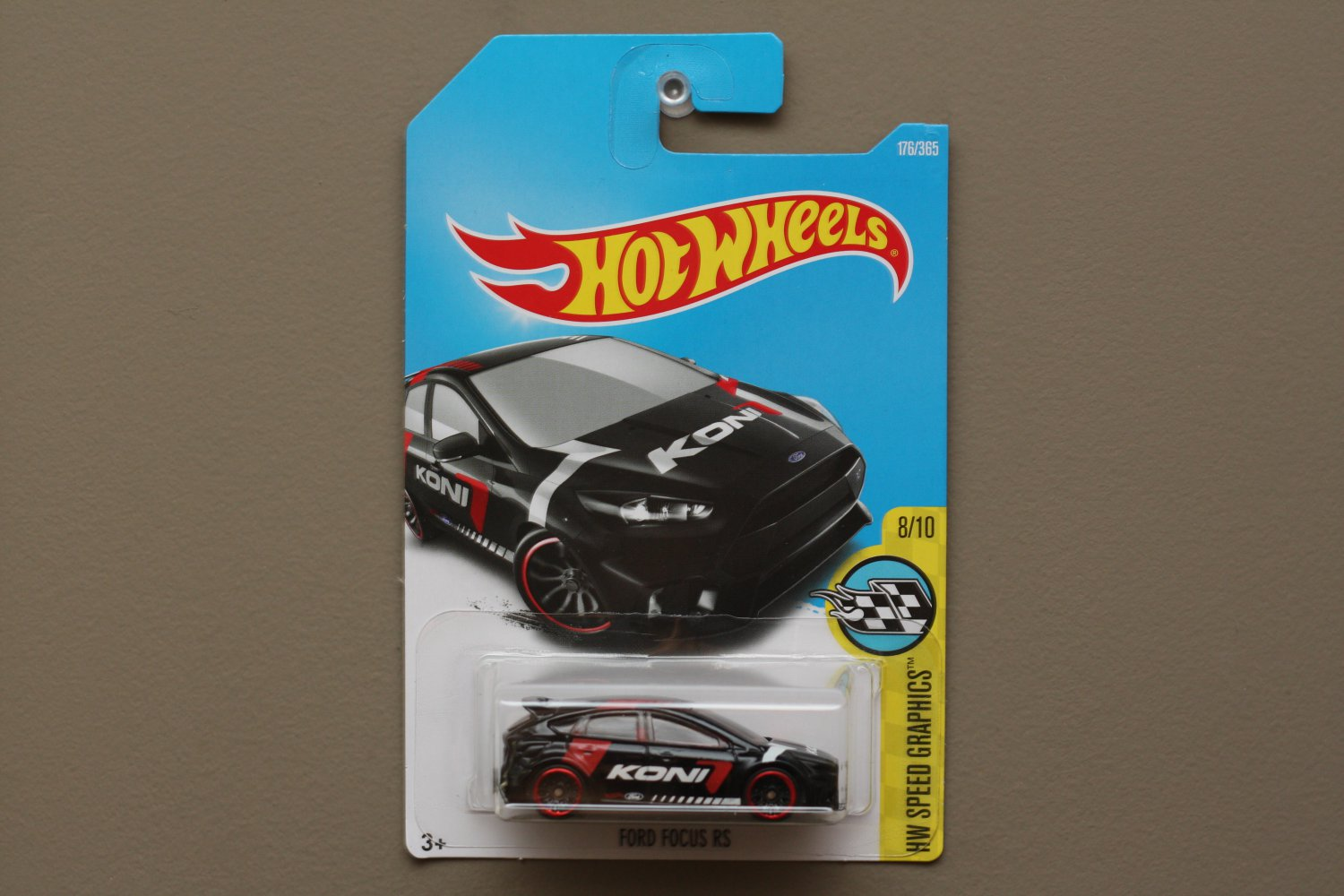 Hot Wheels 2017 HW Speed Graphics '16 Ford Focus RS (black)