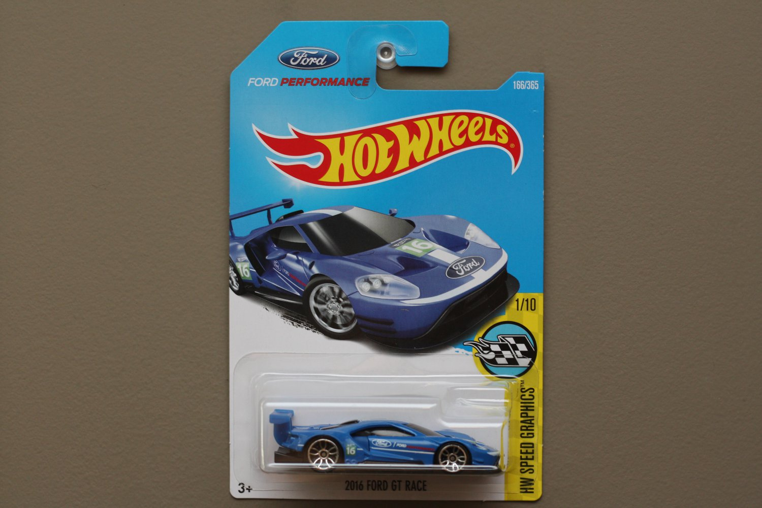 Hot Wheels 2017 HW Speed Graphics '16 Ford GT Race (blue)