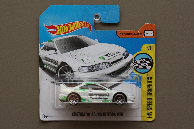 Hot Wheels 2017 HW Speed Graphics Custom '01 Acura Integra GSR (white) (SEE CONDITION)