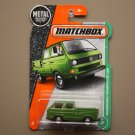 Matchbox 2017 MBX Explorers Volkswagen Transporter Cab (green) (loaded bed variation)