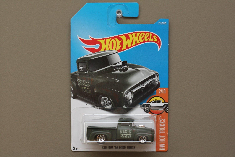 Hot Wheels 2017 HW Hot Trucks Custom '56 Ford Truck (military green)