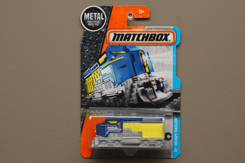 Matchbox 2017 MBX Adventure City Heavy Railer (Heavy Freighter Train) (blue/yellow)
