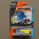 Matchbox 2017 MBX Adventure City Heavy Railer (Heavy Freighter Train) (blue/yellow)
