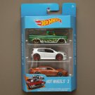 Hot Wheels 2017 3-Packs ('62 Chevy, VW Golf, Porsche Panamera)