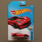 Hot Wheels 2017 Factory Fresh Corvette C7 Z06 (red) (SEE CONDITION)