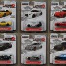 Jada Toys 2017 JDM Tuners (COMPLETE SET OF 6 CARS) (Honda, Nissan, Toyota, Mitsubishi, Acura)