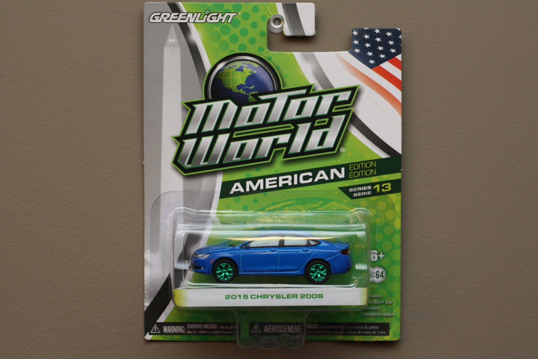 Greenlight Motor World Series 13 American Ed. '15 Chrysler 200S (Green Machine) (SEE CONDITION)