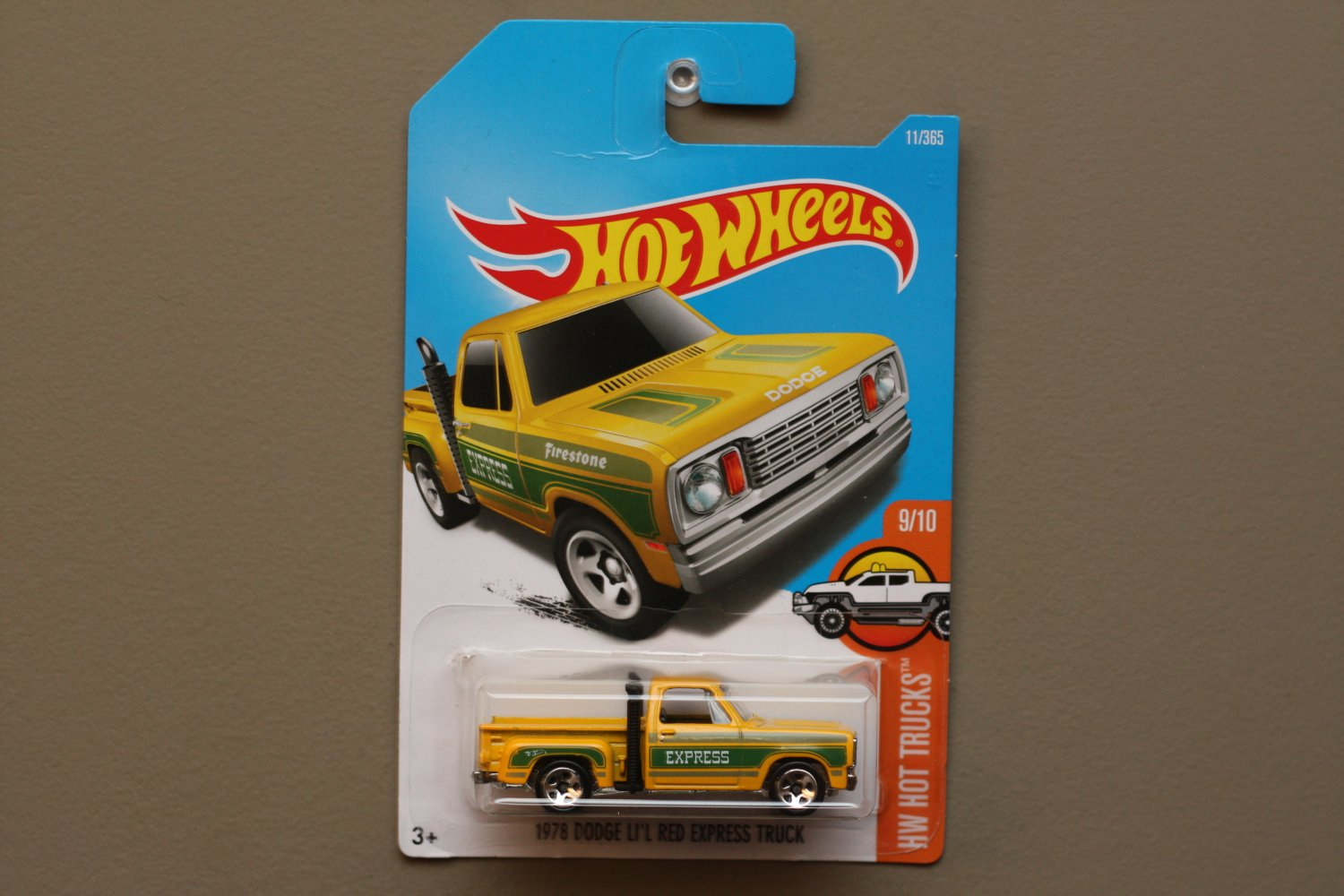 Hot Wheels 2017 HW Hot Trucks '78 Dodge Li'l Red Express Truck (yellow) (SEE CONDITION)