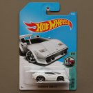 Hot Wheels 2017 Tooned Lamborghini Countach (white)