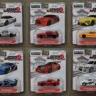 Jada Toys 2017 JDM Tuners (#2) (COMPLETE SET OF 6 CARS) (Honda, Nissan, Toyota, Mitsubishi, Acura)