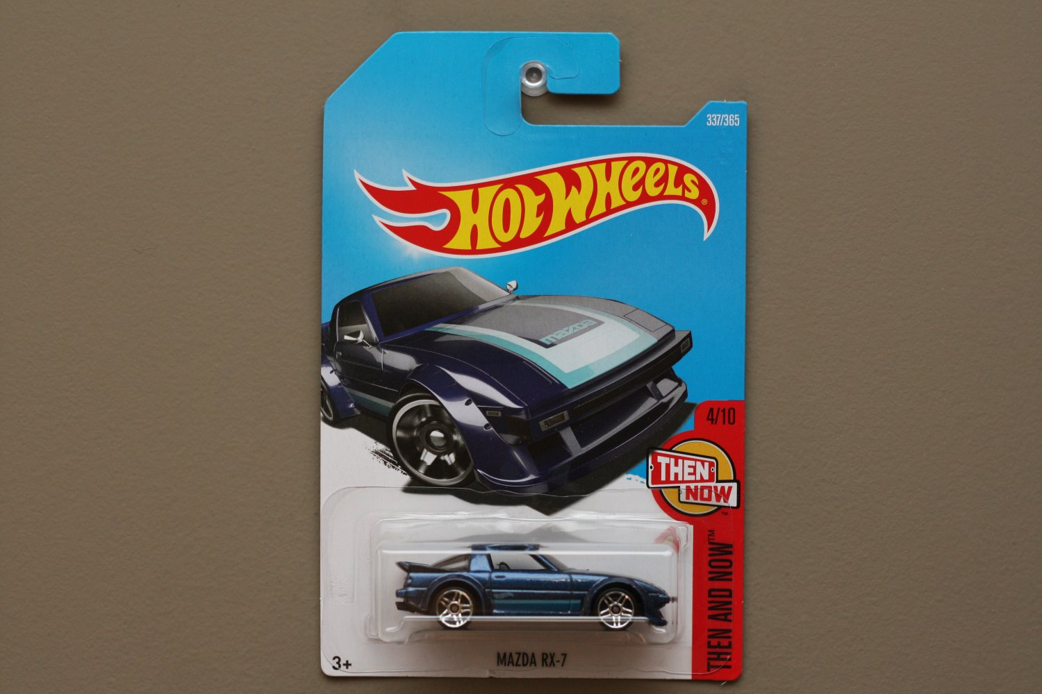 Hot Wheels 2017 Then And Now Mazda RX-7 (blue)