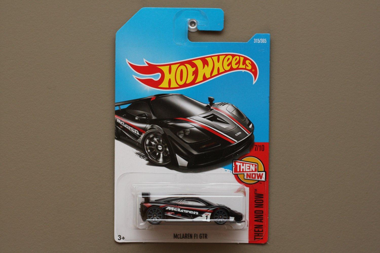 Hot Wheels 2017 Then And Now McLaren F1 GTR (black)