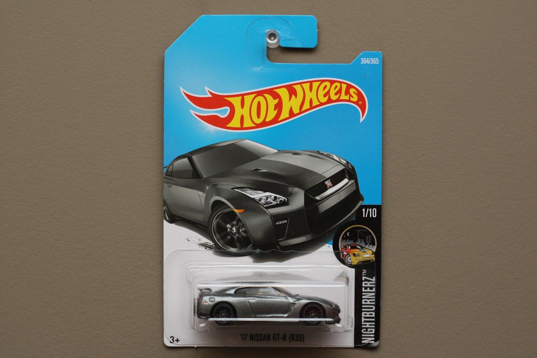 Hot wheels 2017 nightburnerz 39 17 nissan gt r r35 grey for 9 salon hot wheels mexico