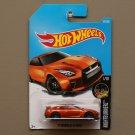 Hot Wheels 2017 Nightburnerz '17 Nissan GT-R [R35] (orange) (SEE CONDITION)