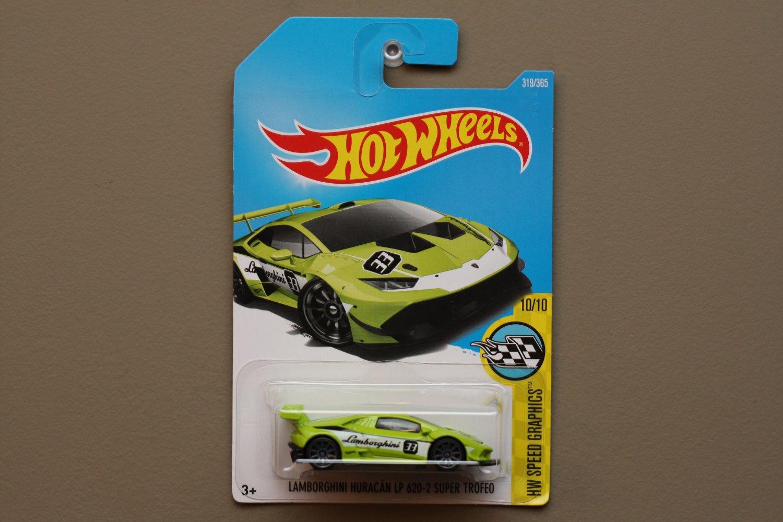 Hot Wheels 2017 HW Speed Graphics Lamborghini Huracan LP 620-2 Super Trofeo (green) (SEE CONDITION)