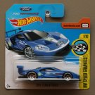 Hot Wheels 2017 HW Speed Graphics '16 Ford GT Race (blue) (SEE CONDITION)