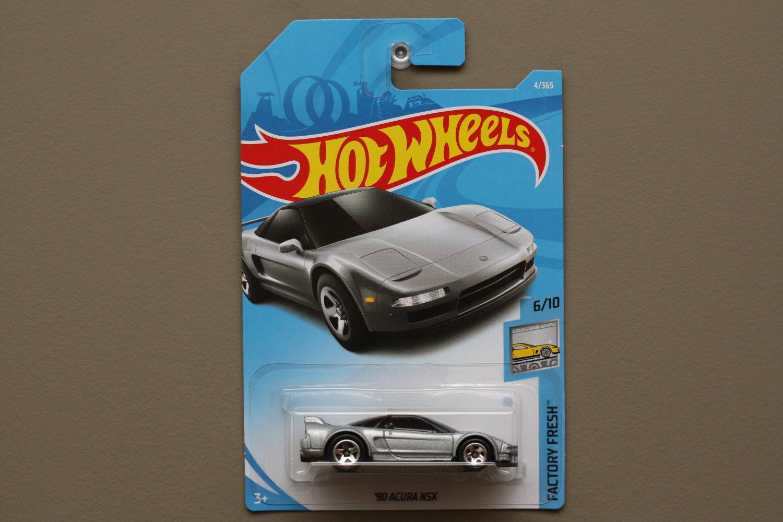 Hot Wheels 2018 Factory Fresh '90 Acura NSX (silver)