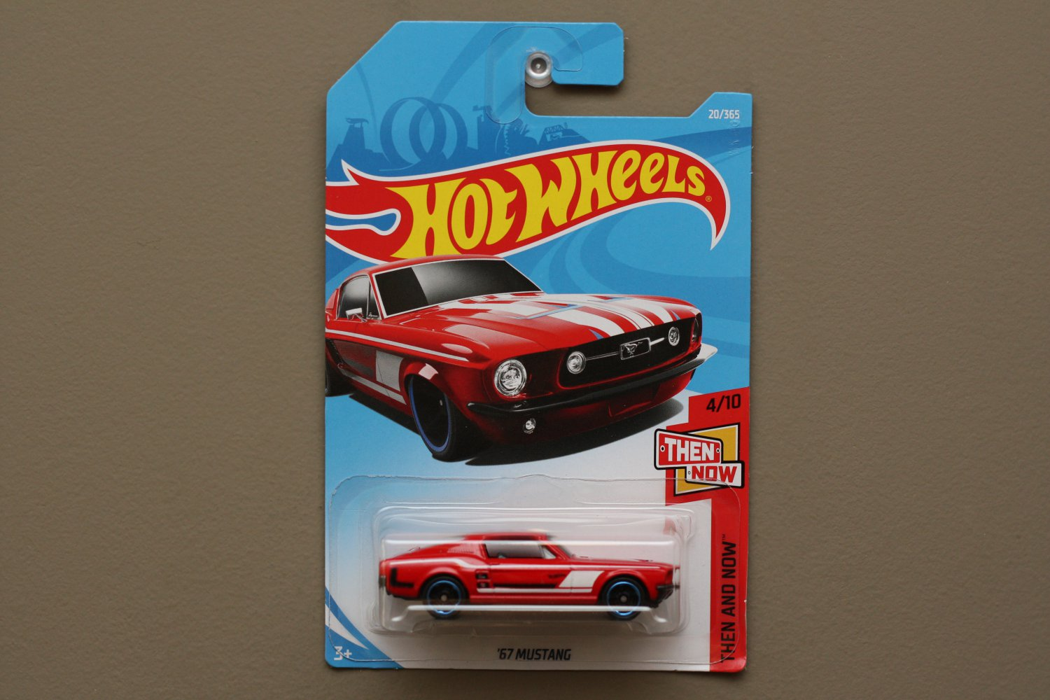 Hot Wheels 2018 Then And Now Custom '67 Mustang (red)
