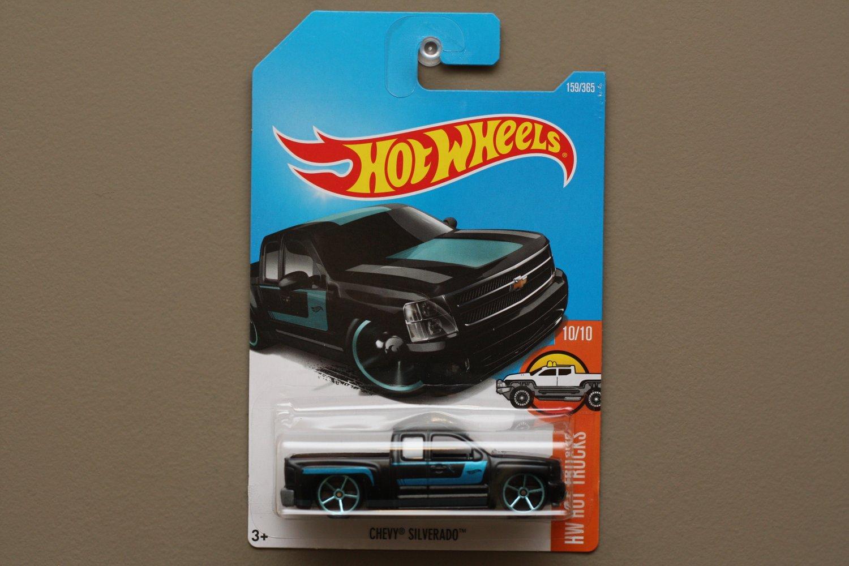 Hot Wheels 2017 HW Hot Trucks Chevy Silverado (black)