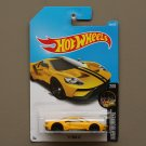 Hot Wheels 2017 Nightburnerz '17 Ford GT (yellow) (SEE CONDITION)