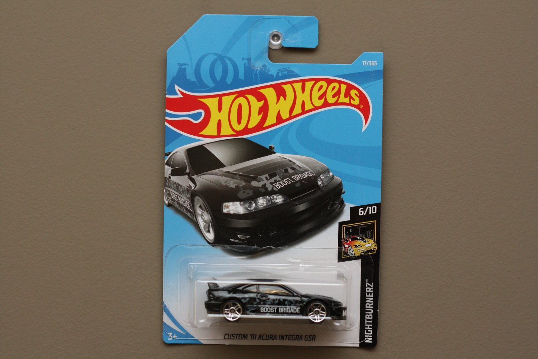 Hot Wheels 2018 Nightburnerz Custom '01 Acura Integra GSR (black) (SEE CONDITION)