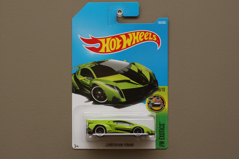 Hot Wheels 2017 HW Exotics Lamborghini Veneno (green)