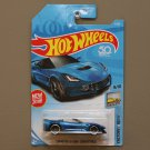 Hot Wheels 2018 Factory Fresh Corvette C7 Z06 Convertible (blue) (SEE CONDITION)