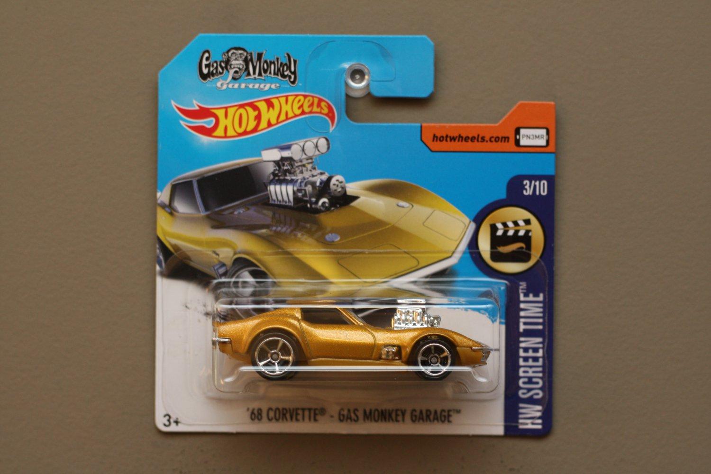 Hot Wheels 2017 Hw Screen Time 68 Corvette Gas Monkey Garage Hotwheels 82 Nissan Skyline R30 Silver