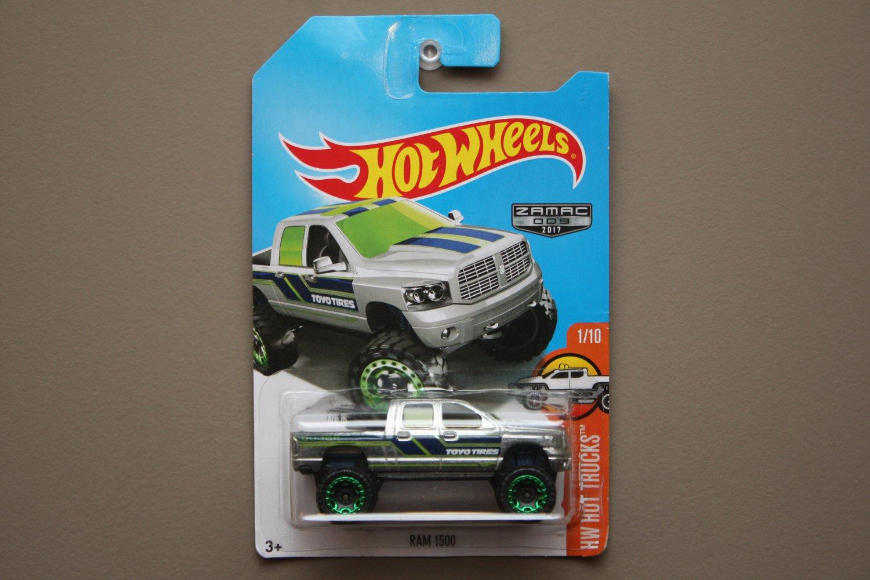 Hot Wheels 2017 HW Hot Trucks Dodge RAM 1500 (ZAMAC silver - Walmart Excl.) (SEE CONDITION)