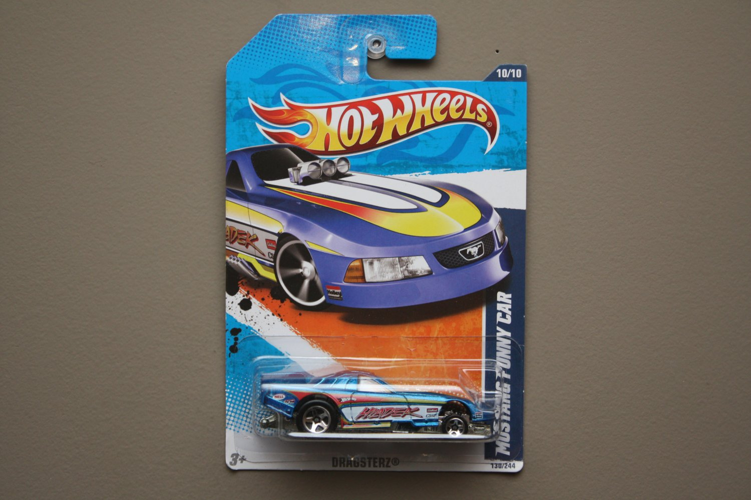 Hot Wheels 2011 Dragsterz Mustang Funny Car (blue) (SEE CONDITION)