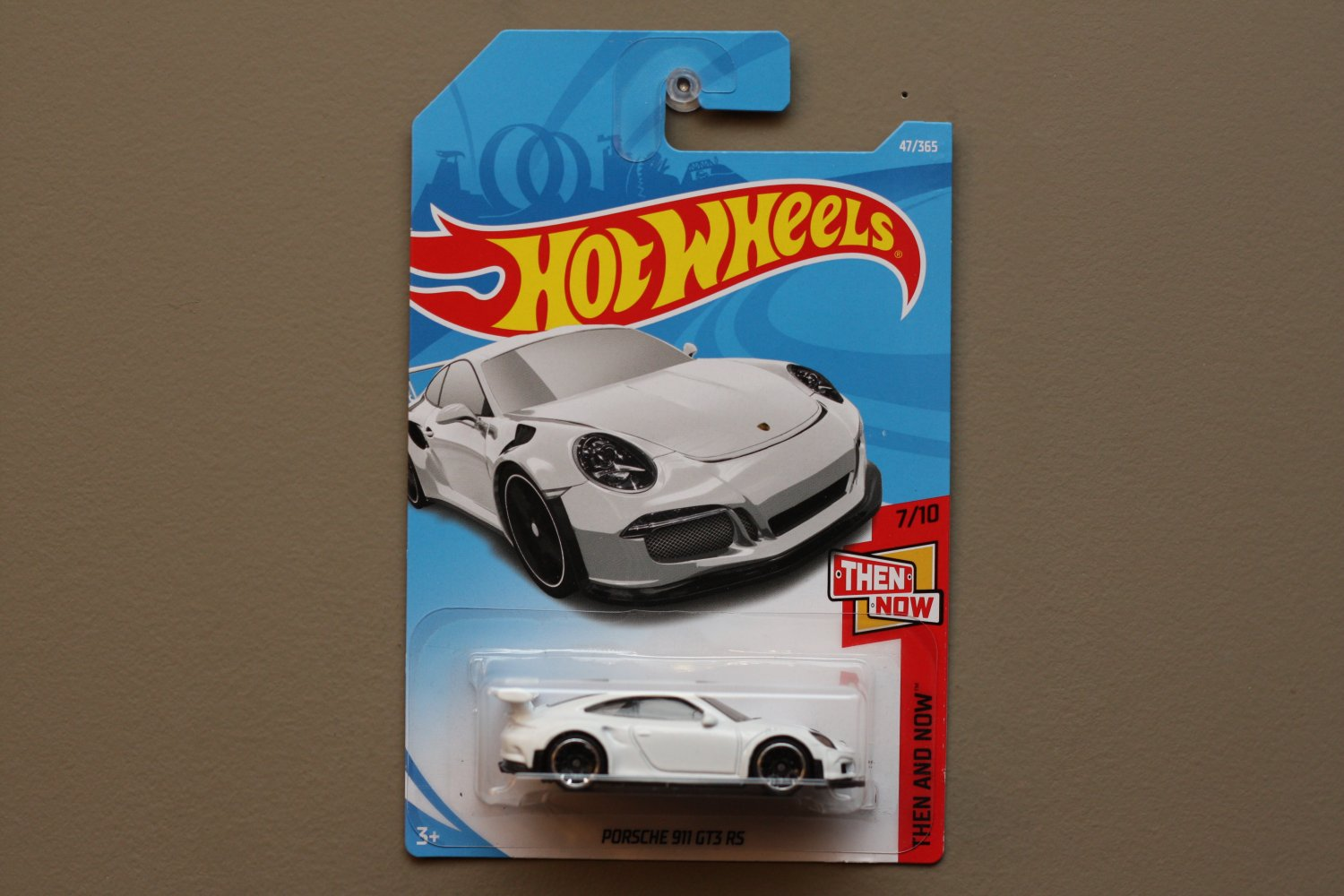 hot wheels 2018 then and now 39 16 porsche 911 gt3 rs white see condition. Black Bedroom Furniture Sets. Home Design Ideas