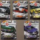 Hot Wheels 2018 Car Culture Japan Historics 2 (COMPLETE SET OF 5 CARS) (Nissan, Datsun, Mazda)
