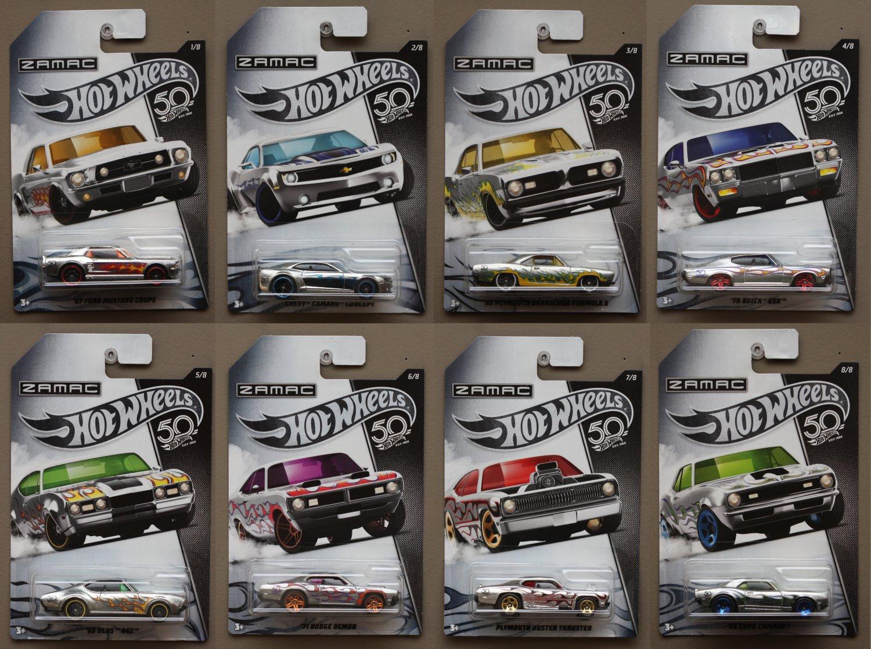Hot wheels th anniversary zamac series complete