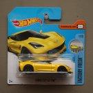 Hot Wheels 2017 Factory Fresh Corvette C7 Z06 (yellow)