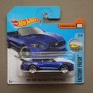 Hot Wheels 2017 Factory Fresh '15 Ford Mustang GT Convertible (blue)