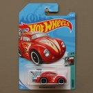 Hot Wheels 2018 Tooned Volkswagen Beetle (red)