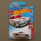 Hot Wheels 2018 Holiday Racers '57 Chevy (white)