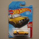 Hot Wheels 2018 Then And Now Volkswagen Golf MK2 (yellow)