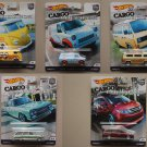 Hot Wheels 2018 Car Culture Cargo Carriers (COMPLETE SET OF 5) (Volkswagen, Ford, Nissan, Honda)